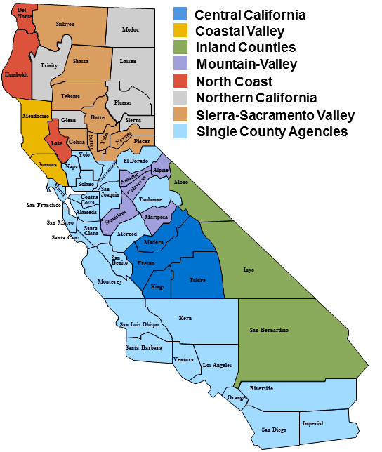 Local Ems Agency County Information Map Emsa