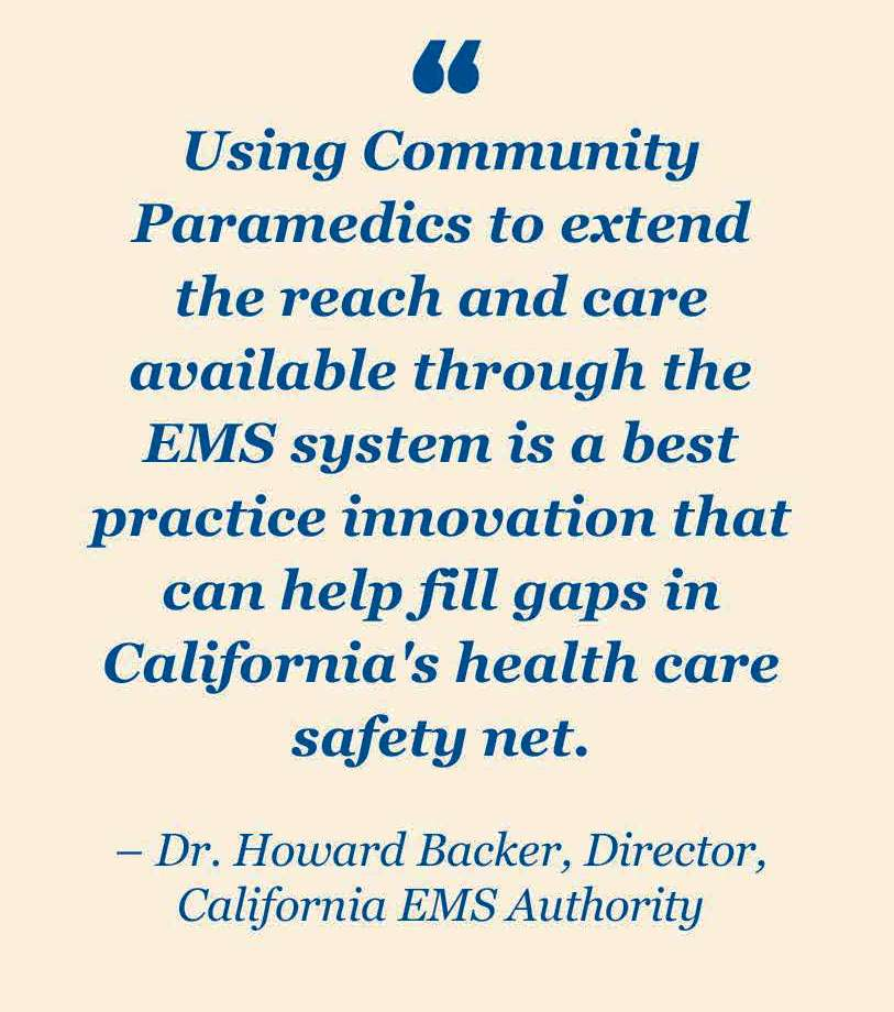 EMSA Director, Dr. Howard Backer quote